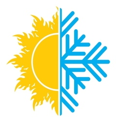 Summer winter air conditioning icon1 vector