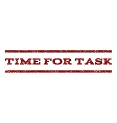 Time For Task Watermark Stamp vector