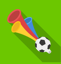 Trumpet football fanfans single icon in flat vector