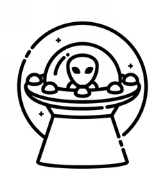 Unidentified flying object vector