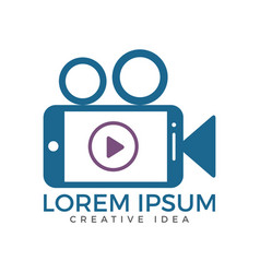 video mobile logo design vector image
