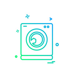 washing machine icon design vector image