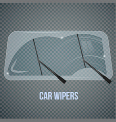 windshield wipers realistic composition vector image