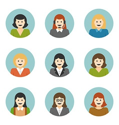 Woman Characters Faces Avatars User Profile vector