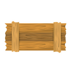 Wooden banner cartoon vector