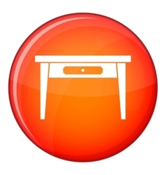 Wooden table icon flat style vector