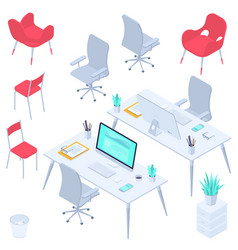 workspaces and workplaces vector image