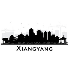 Xiangyang china city skyline silhouette vector