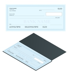 Bank Check with Modern Design Flat vector image vector image