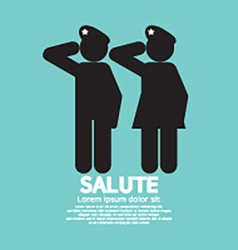 Man And Woman Gave The Salute Gesture vector image vector image