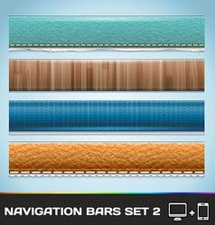 Navigation Bars For Web And Mobile Set2 vector image vector image