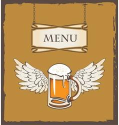 beer wing vector image