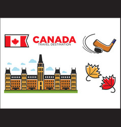 canada travel destination ptomotional poster with vector image vector image