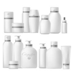 Cosmetic bottle realistic mock up set vector image vector image
