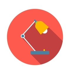 Desk lamp icon flat style vector image