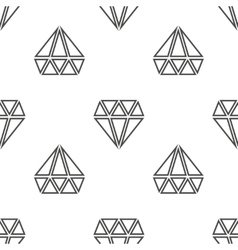 Diamonds seamless pattern in black and vector image