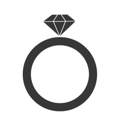 Engagement ring icon vector