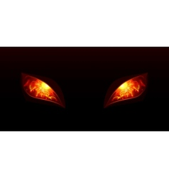 Glowing eyes vector image