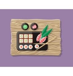 Japanese Food web Banner Japan Sushi vector image vector image