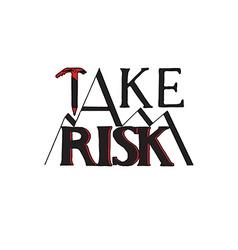 Lettering Risk vector image