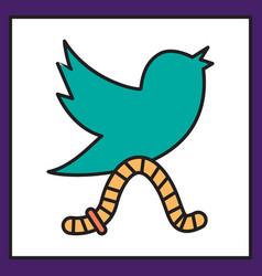 Unusual look tweet bird logotwitter icon vector