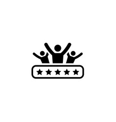 client satisfaction icon flat design vector image