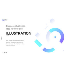 concept with universal abstract shapes vector image vector image
