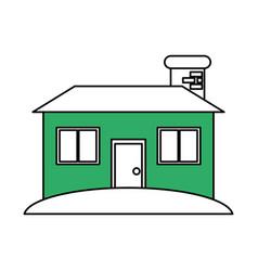 facade house city vector image vector image