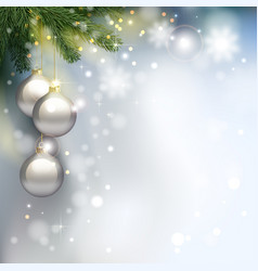 holiday background with fir tree branches and vector image vector image