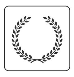 laurel wreath victory achievement icon vector image vector image