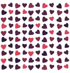 Seamless texture with hearts vector image