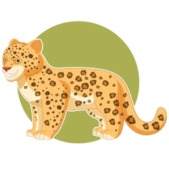 Cartoon smiling Jaguar vector image