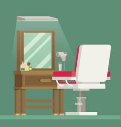 flat barbershop interior vector image vector image