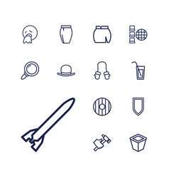 13 collection icons vector