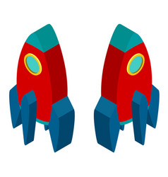 3d design for red rocket vector image