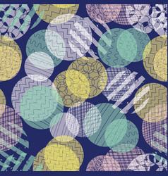 abstract circles seamless pattern layered vector image