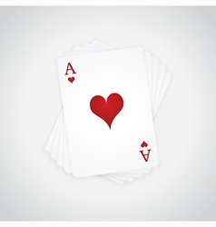 Ace of Hearts vector image vector image