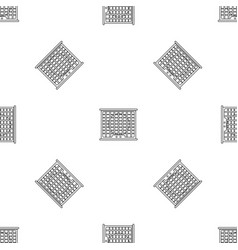 Air conditioner compressor pattern seamless vector