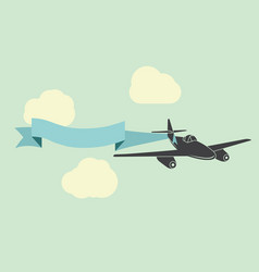 airplane with advertisement banner vector image