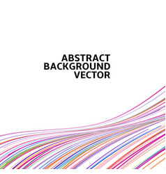 Amazing linear thread abstract white vector