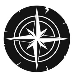 Ancient compass icon simple vector