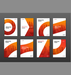 annual report brochure cover design layouts set vector image