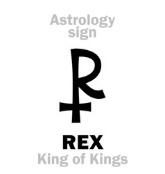 Astrology rex king of kings vector