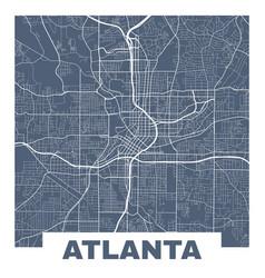 Atlanta map square map atlanta city streets vector