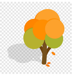 Autumn tree isometric icon vector