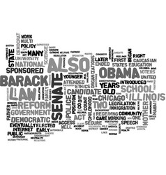 Barack obama democrat text word cloud concept vector