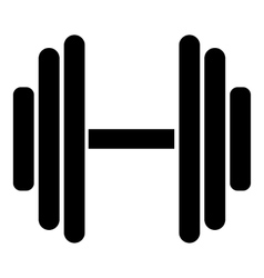 Big dumbbell icon simple style vector image