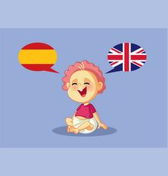 bilingual baspeaking english and spanish vector image