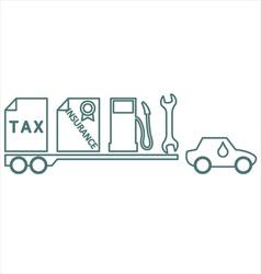 Car Costs vector image
