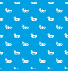 carnival mask pattern seamless blue vector image